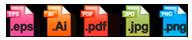 Formats fournis à la livraison du logo
